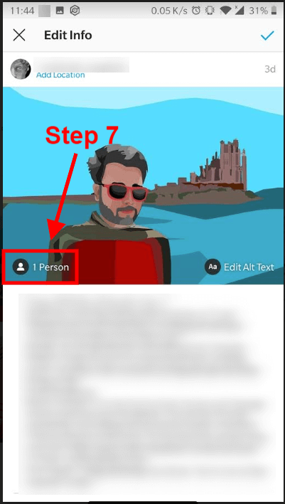How to tag someone on Instagram after posting_7