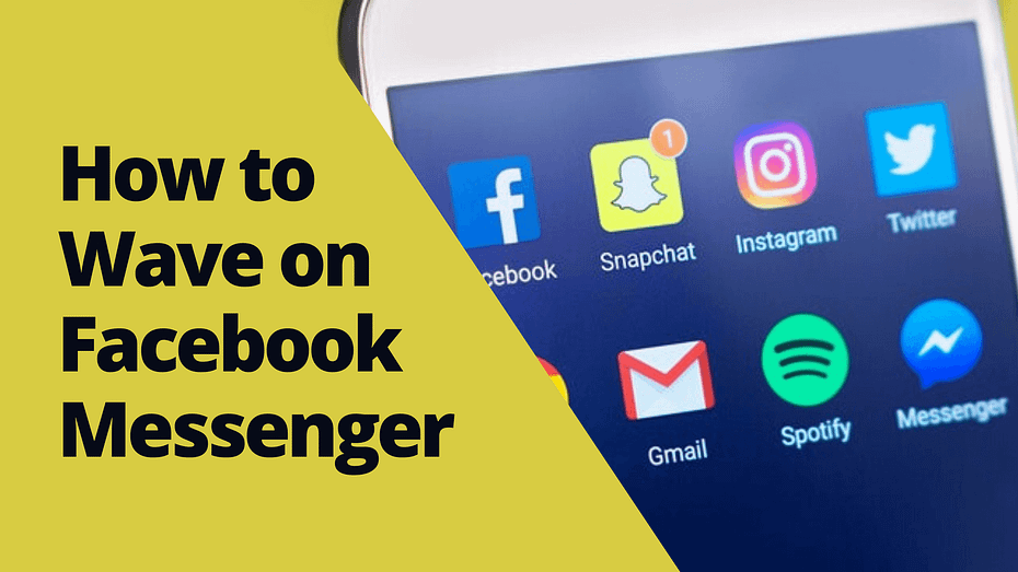 how to wave on facebook messenger