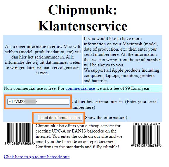 Chipmunk Klantenservice iphone age