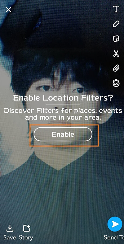 Snapchat location filters not working