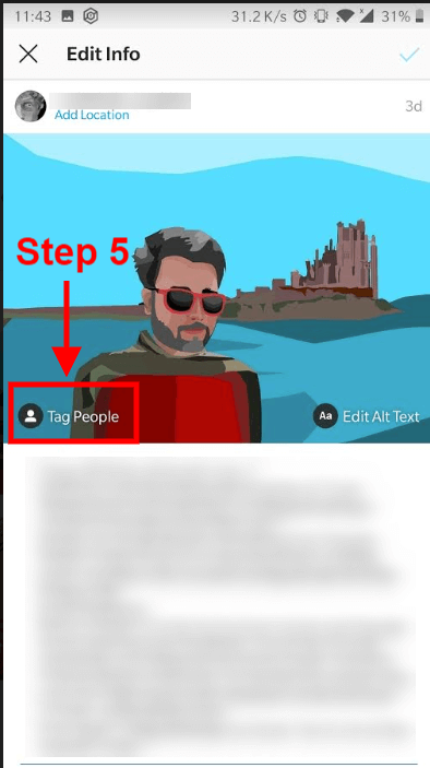 How to tag someone on Instagram after posting_5