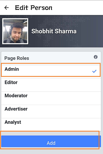 How to add admin to the Facebook page from Mobile_4