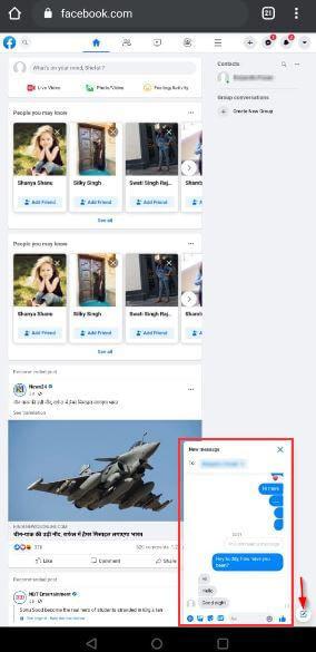 Access Facebook messages using facebook messenger_5
