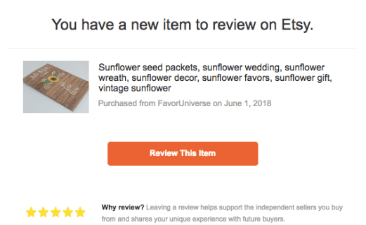 How to Leave a Review on Etsy as a guest