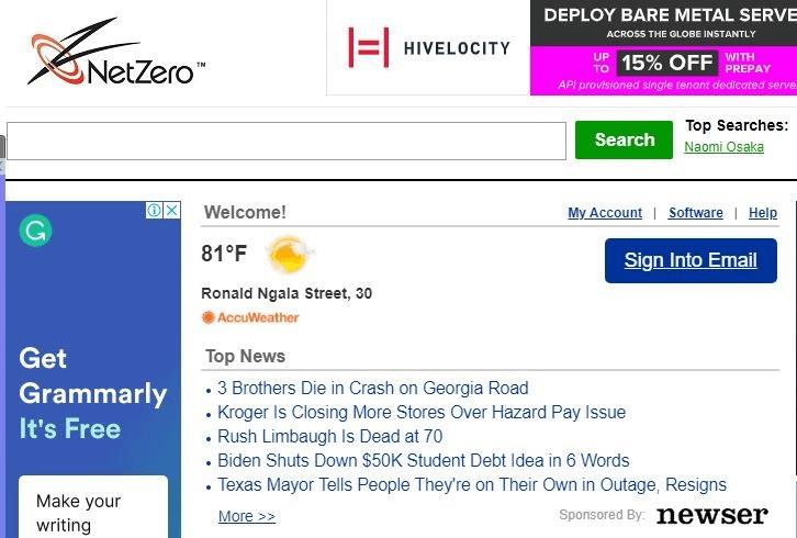 NetZero mobile webmail