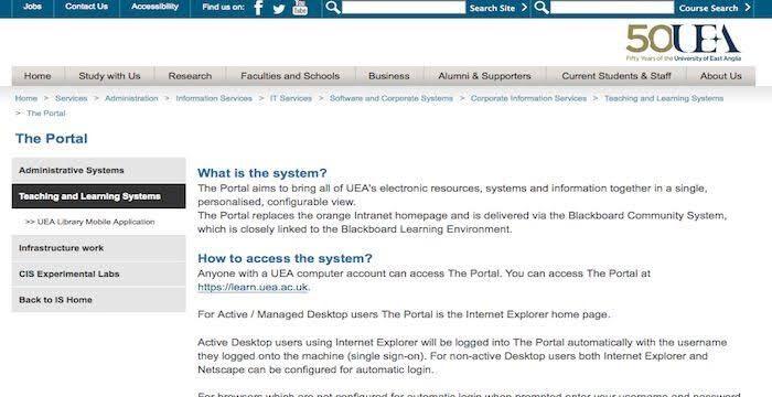 UEA Webmail Portal
