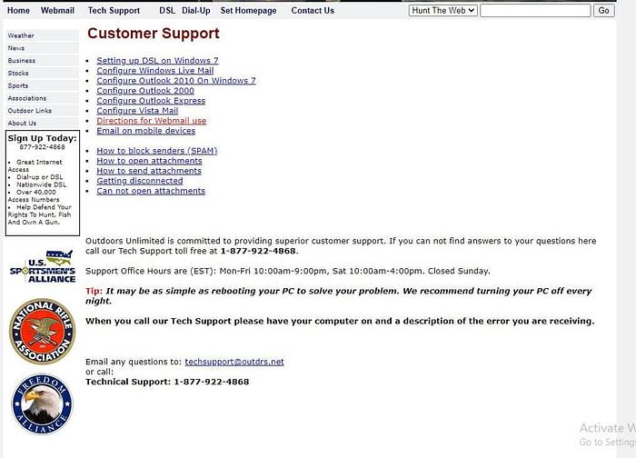 Outdrs.net webmail support