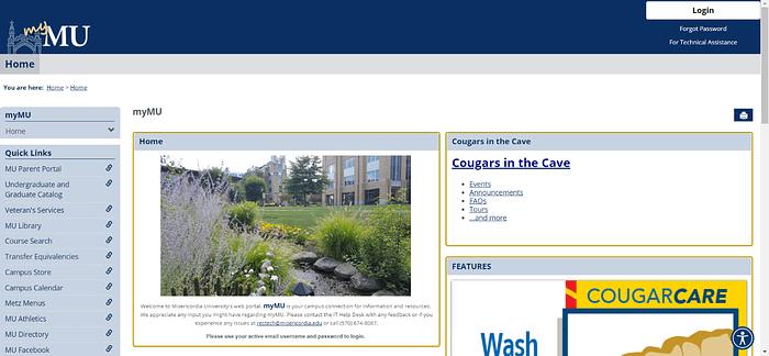myMU home page