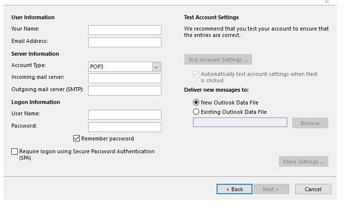 Webmail.1and1.com outlook settings 1