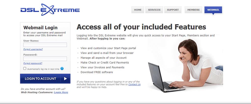 dslextreme webmail login
