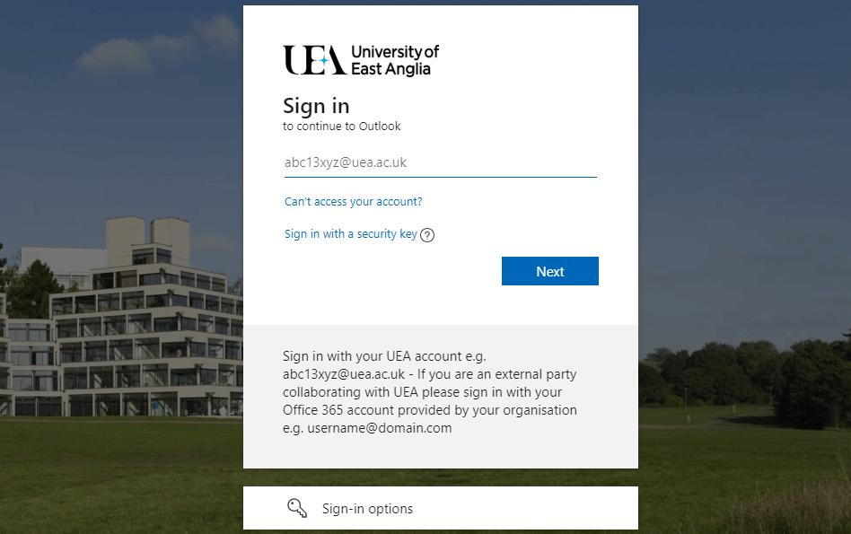 UEA Webmail
